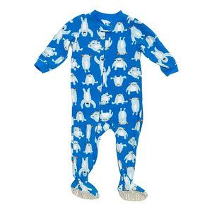 Carter's Blue Monster Fleece Footed PJ's